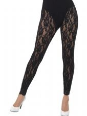 1980's Lace Black Leggings